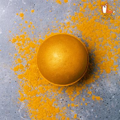 """""""Апельсин Царя Мидаса"""" Бомба для ванны ручной работы с шиммером - фото 4805"""