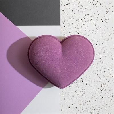 """""""Виноградное Сердце"""" Большая бомба для ванны ручной работы с шиммером. - фото 5105"""